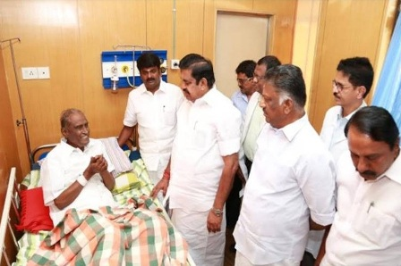 CM E.Palanisamy meets D Pandian in Hospital